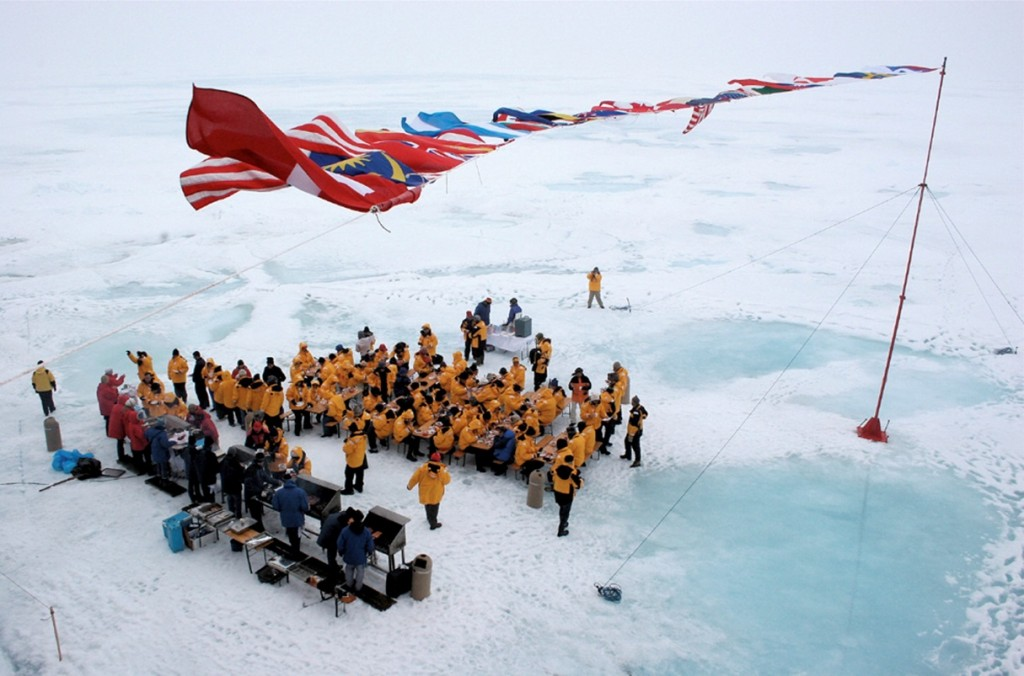 The climax of your North Pole expedition is a celebratory day on the ice at 90 degrees North, complete with a champagne toast and BBQ.