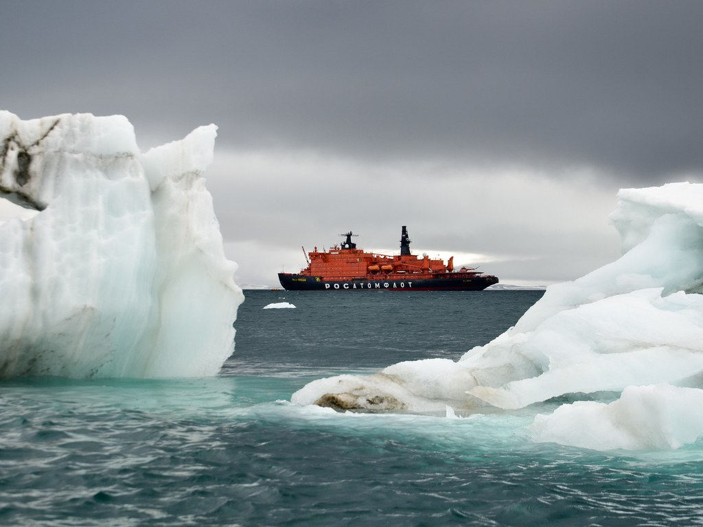 The Russian icebreaker known as the 50 Let Pobedy only makes five trips to the North Pole each summer.