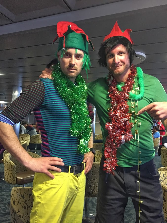 Expedition staff get festive on board Ocean Endeavour for a Christmas cruise