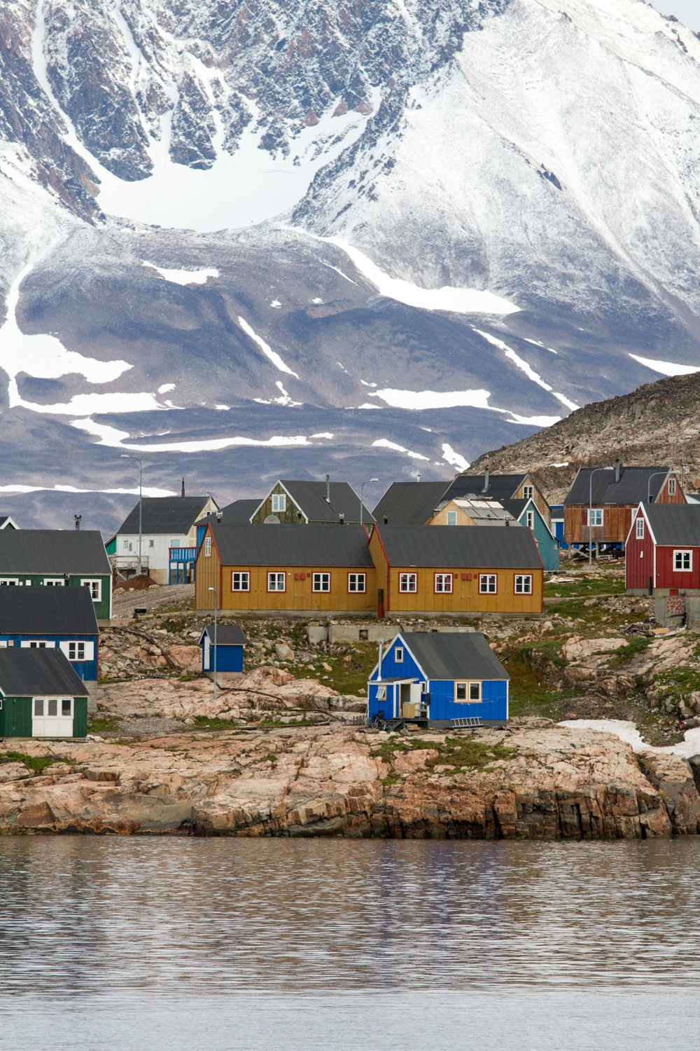 The charming Greenland village of Ittoqqortoormiit, where locals thrive even in punishing Arctic conditions, after the storm. Photo: Daven Hafey