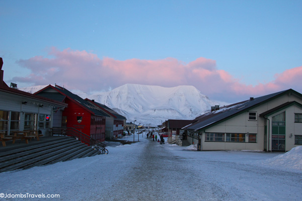 Longyearbyen's Main Street. Photo credit: Jennifer Dombrowski