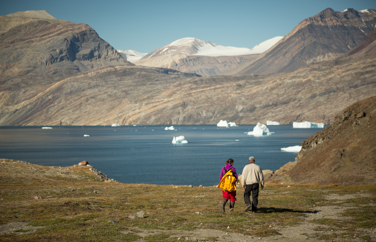 Passengers in Blomsterbugta, East Greenland 2016