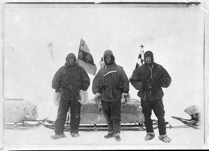 Pictured: Ernest Henry Shackleton, Robert Falcon Scott, and Edward Adrian Wilson