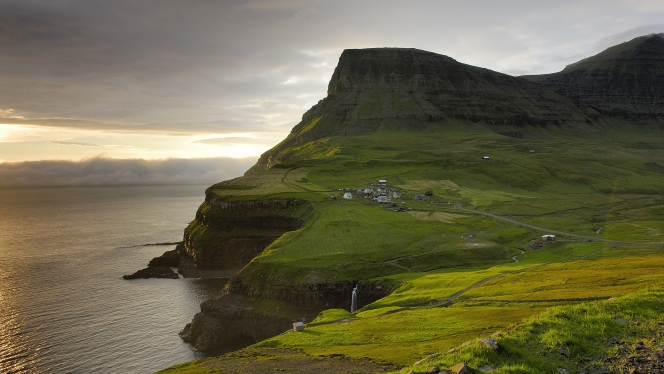 You'll visit Tórshavn and explore the countryside of the Faroe Islands on your repositioning cruise from Scotland to Svalbard.