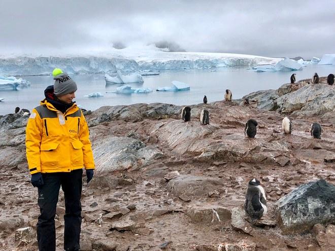 Indre Rockefeller in Antarctica