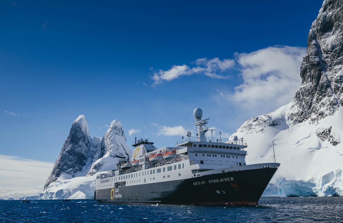 Ocean Endeavour in Antarctica