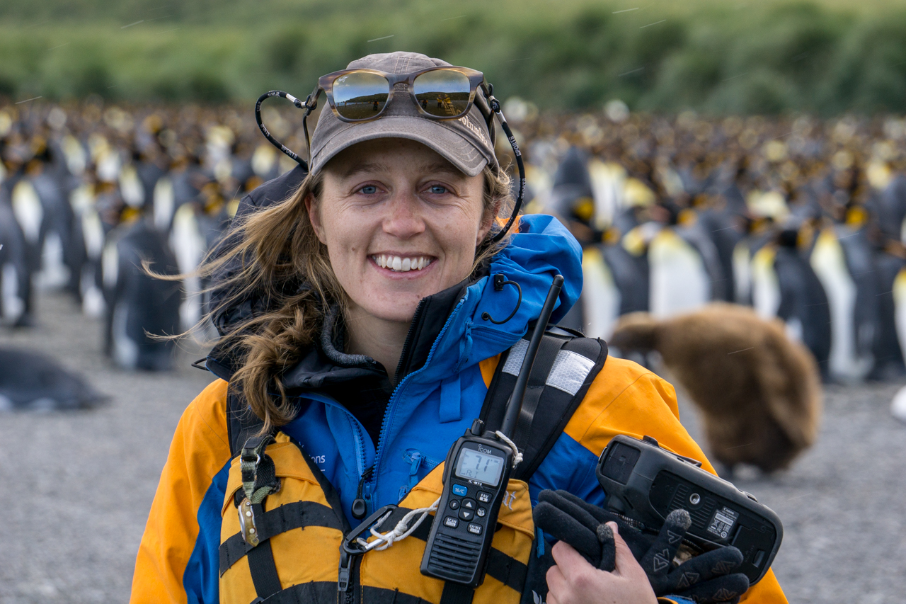 Quark Expeditions Guide Michelle Sole. Photo by Dagny Ivarsdottir