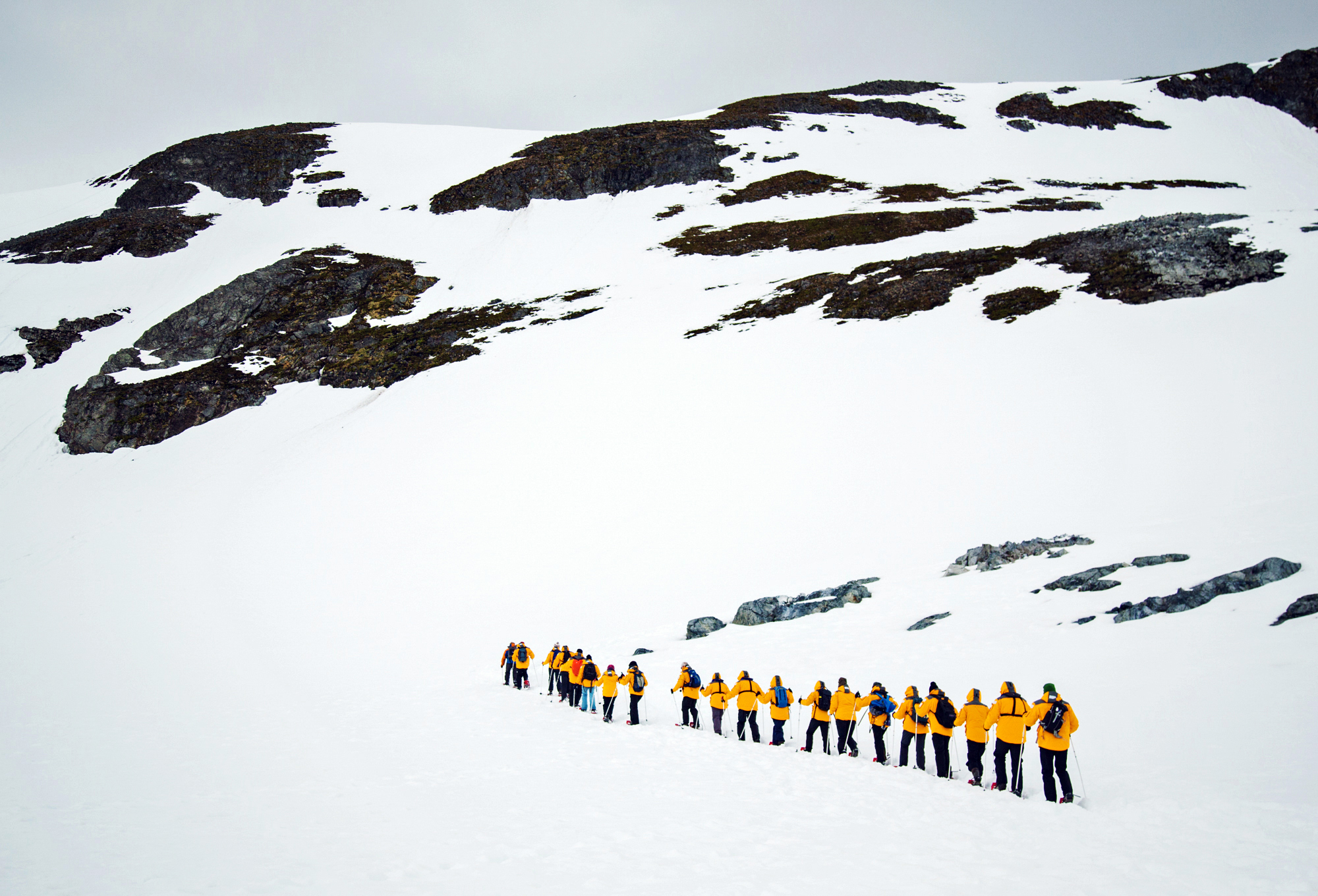 Quark Passenger Snowshoeing in Antarctica. Photo: Acacia Johnson