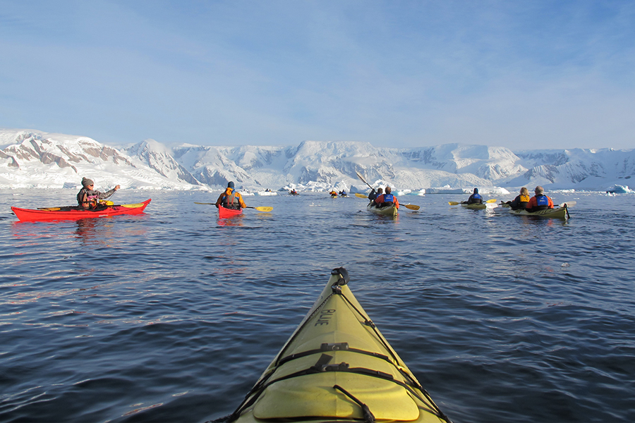 A Kayaker's perspective in Antarctic waters. Photo: Quark Passenger