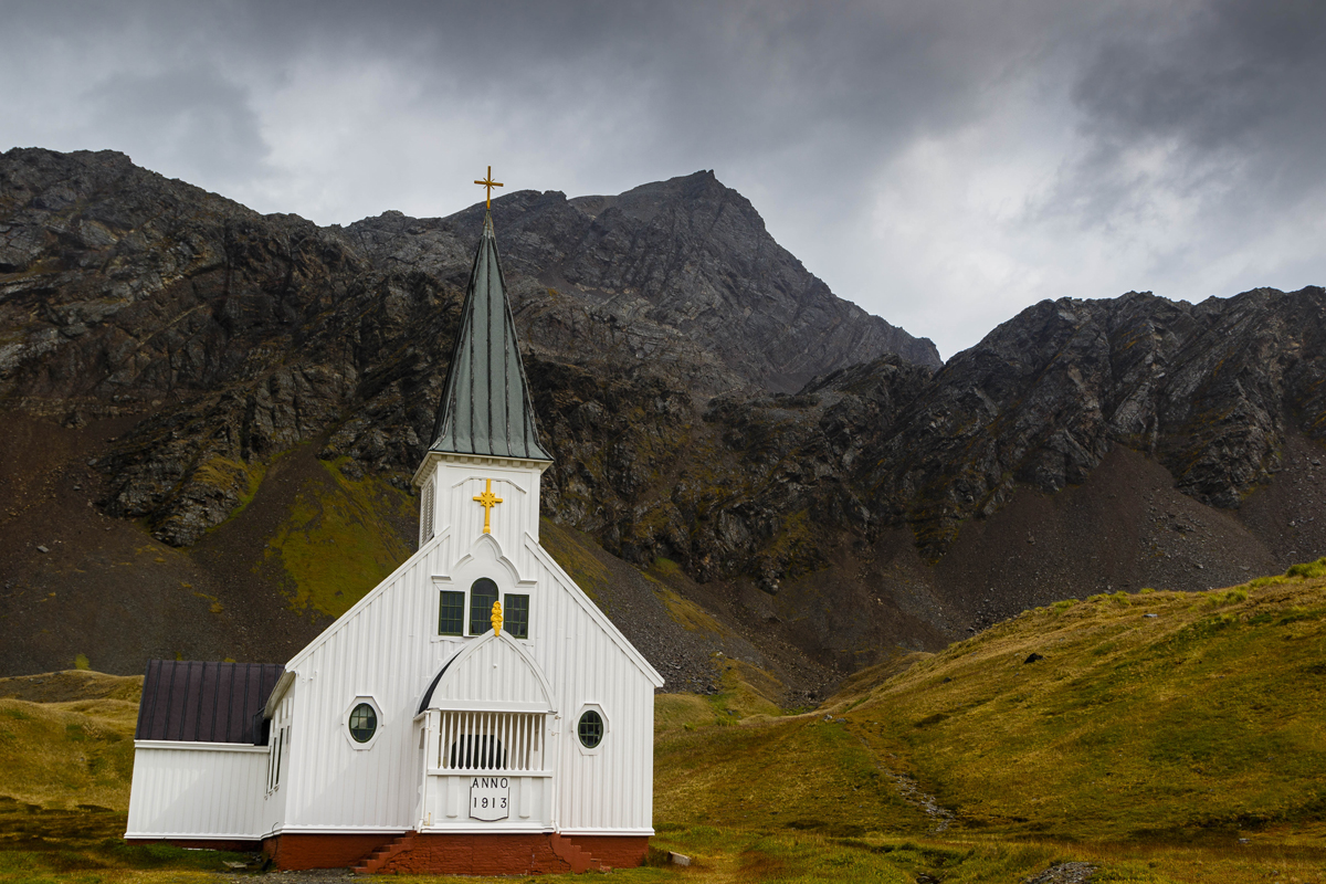 Grytviken Church in 2017, pictured by Nicky Souness