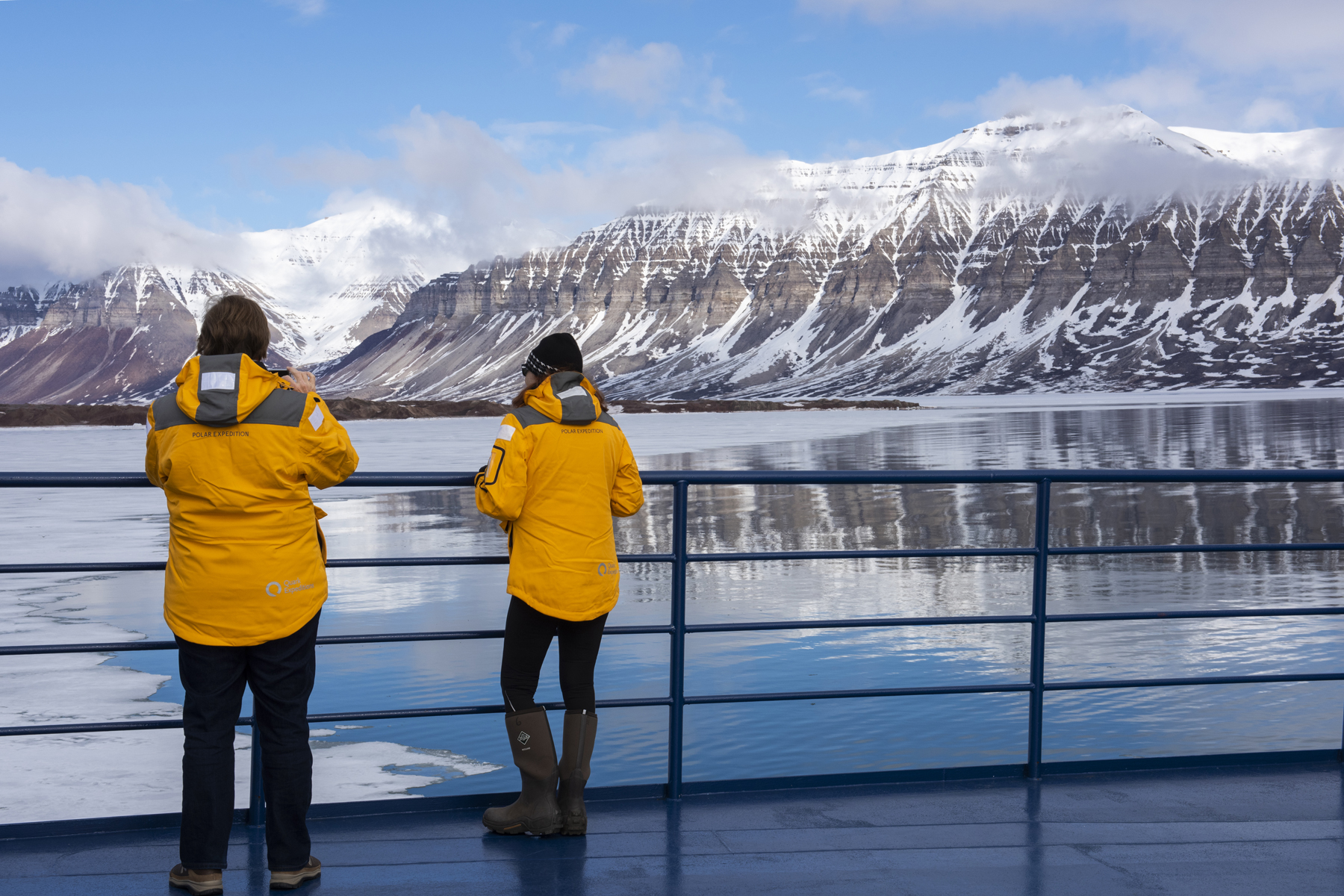 Passengers out on deck during a Spitsbergen Expedition. Photo: Cindy Miller Hopkins