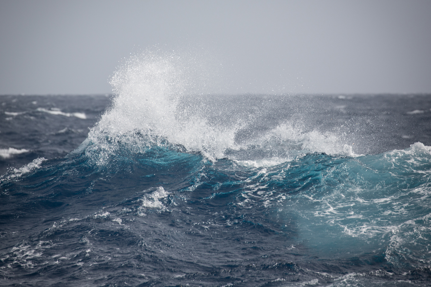Waves during the Drake Passage. Photo: Acacia Johnson