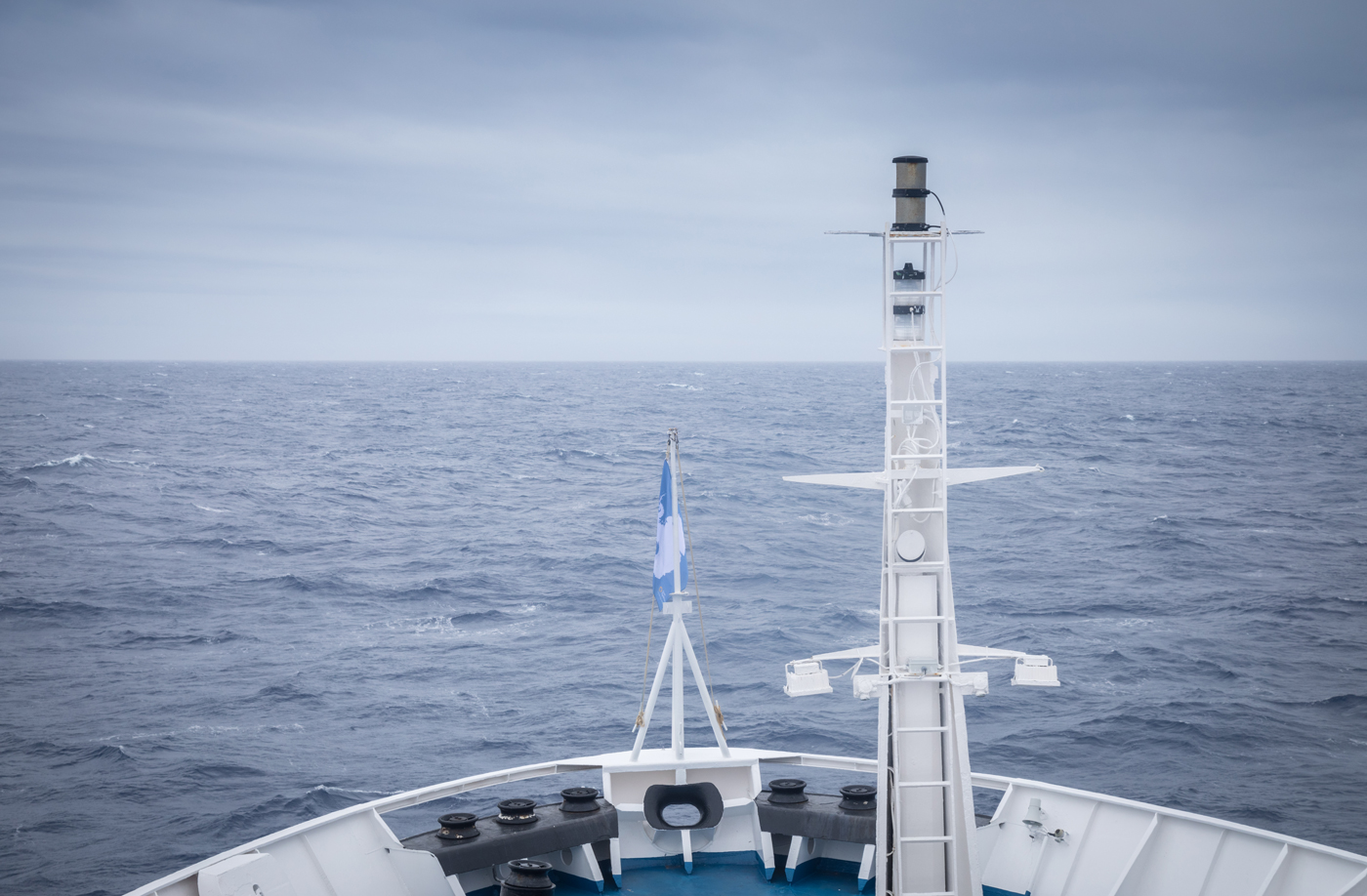 Views from the bridge of the Ocean Diamond. Photo: Acacia Johnson