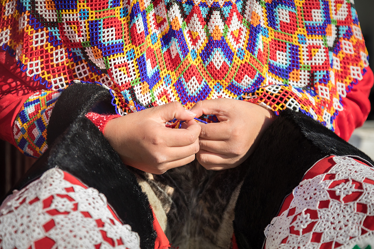 Traditional embroidering in Greenland. Photo: Acacia Johnson