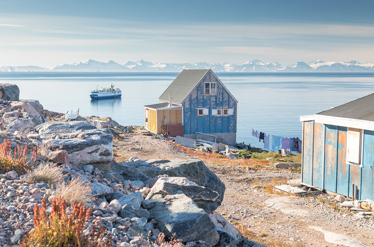 A colorful house in Ittoqqortoormiit, East Greenland. Photo by Acacia Johnson