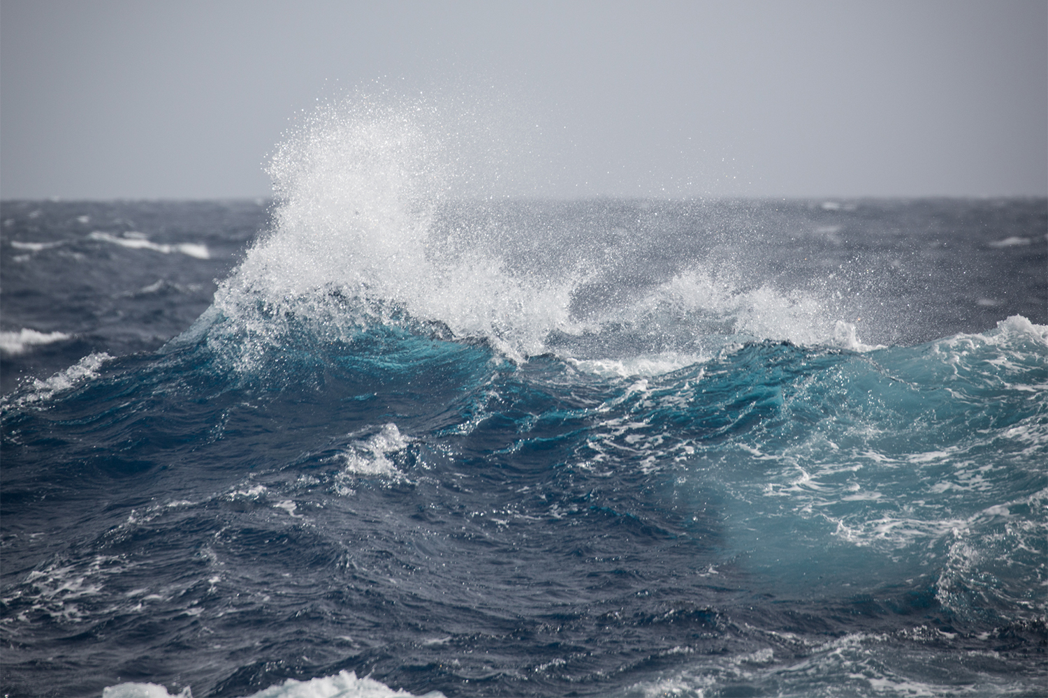 Rough waters in the Drake Passage. Photo: Acacia Johnson