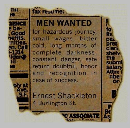 Shackleton Ad for Nimrod