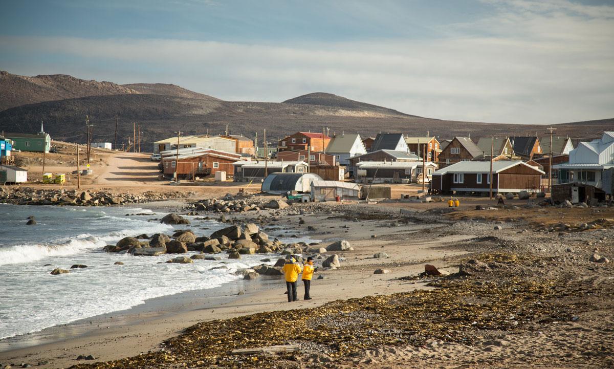 A beach in Baffin Island.