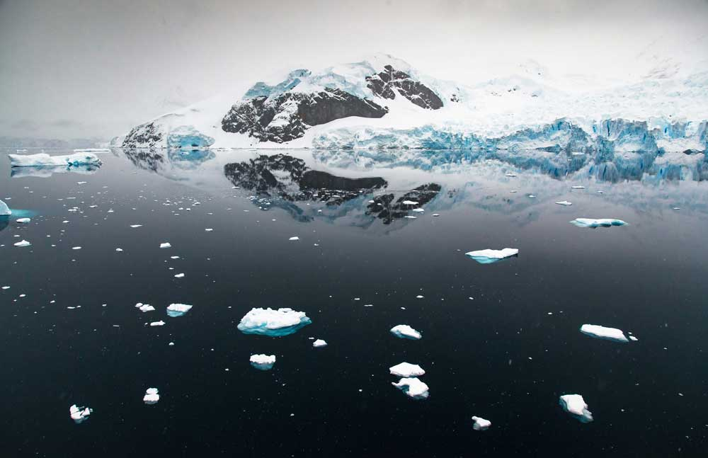 uark Expeditions' guests who cross the Drake Passage by plane enjoy incredible aerial views when landing in the Antarctic