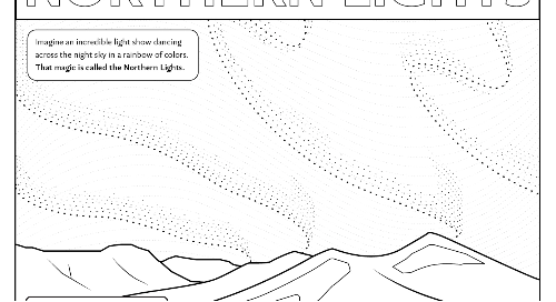 The Northern Lights Coloring Sheet