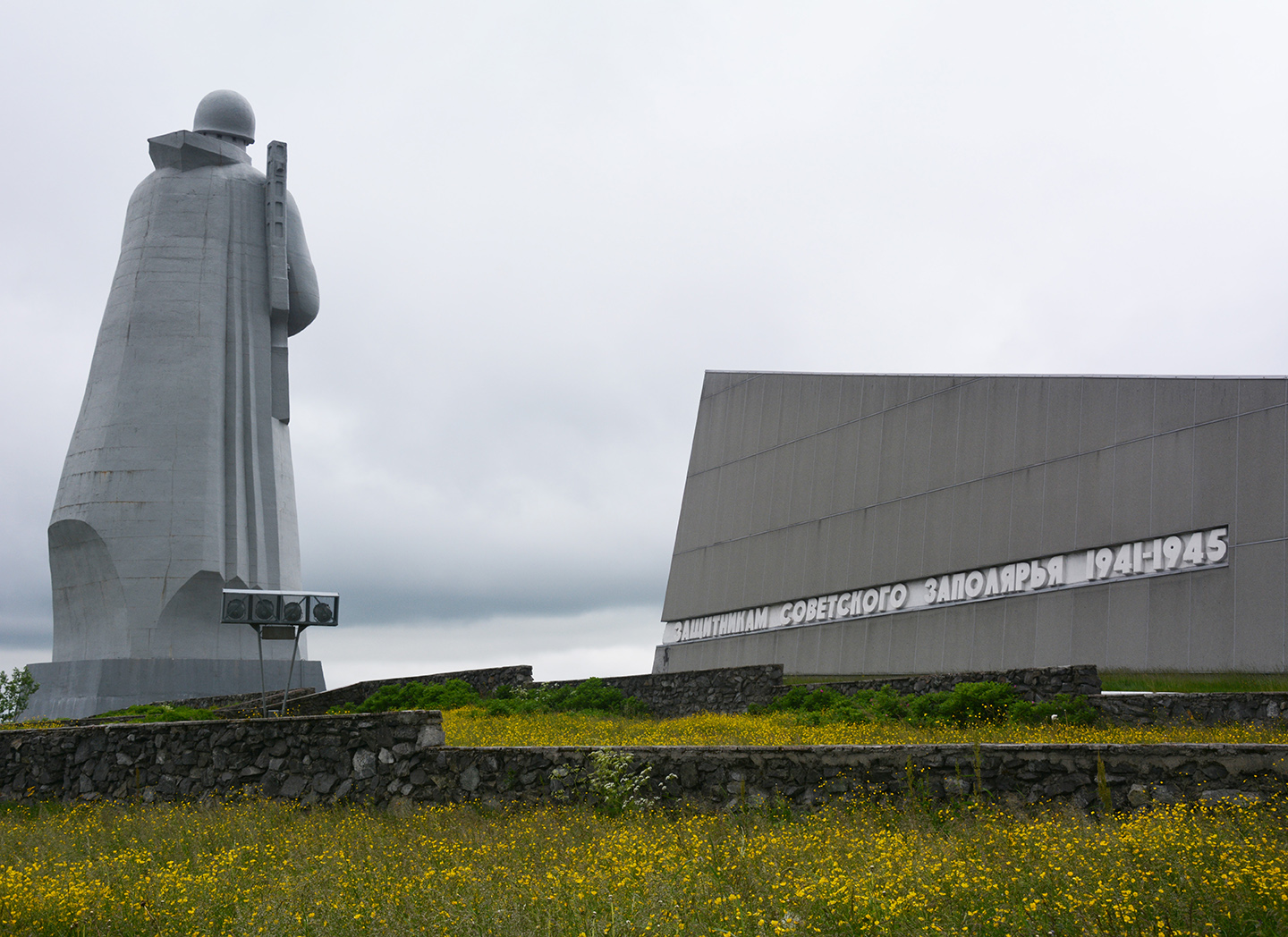 The monument to Alyosha in Murmansk, Russia, honors soldiers of the Second World War.