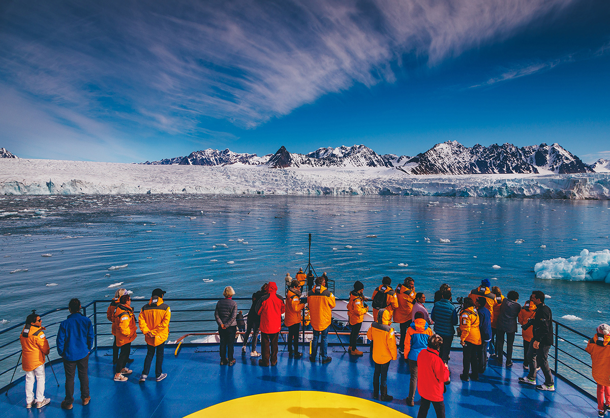 Quark Expeditions' fleet of small polar vessels can take travelers to remote regions of Svalbard that larger ships can't navigate