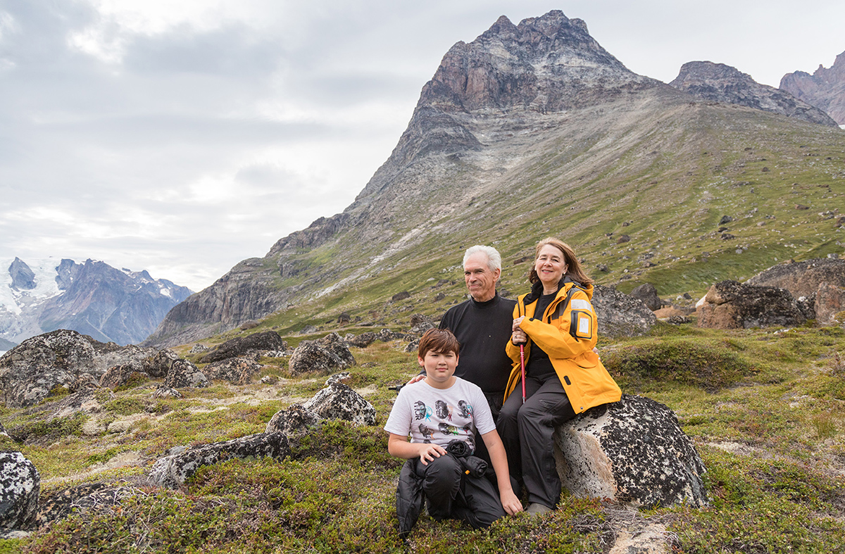 Guests enjoy exploring on foot during shore excursions while on a Quark Expeditions voyage in Greenland