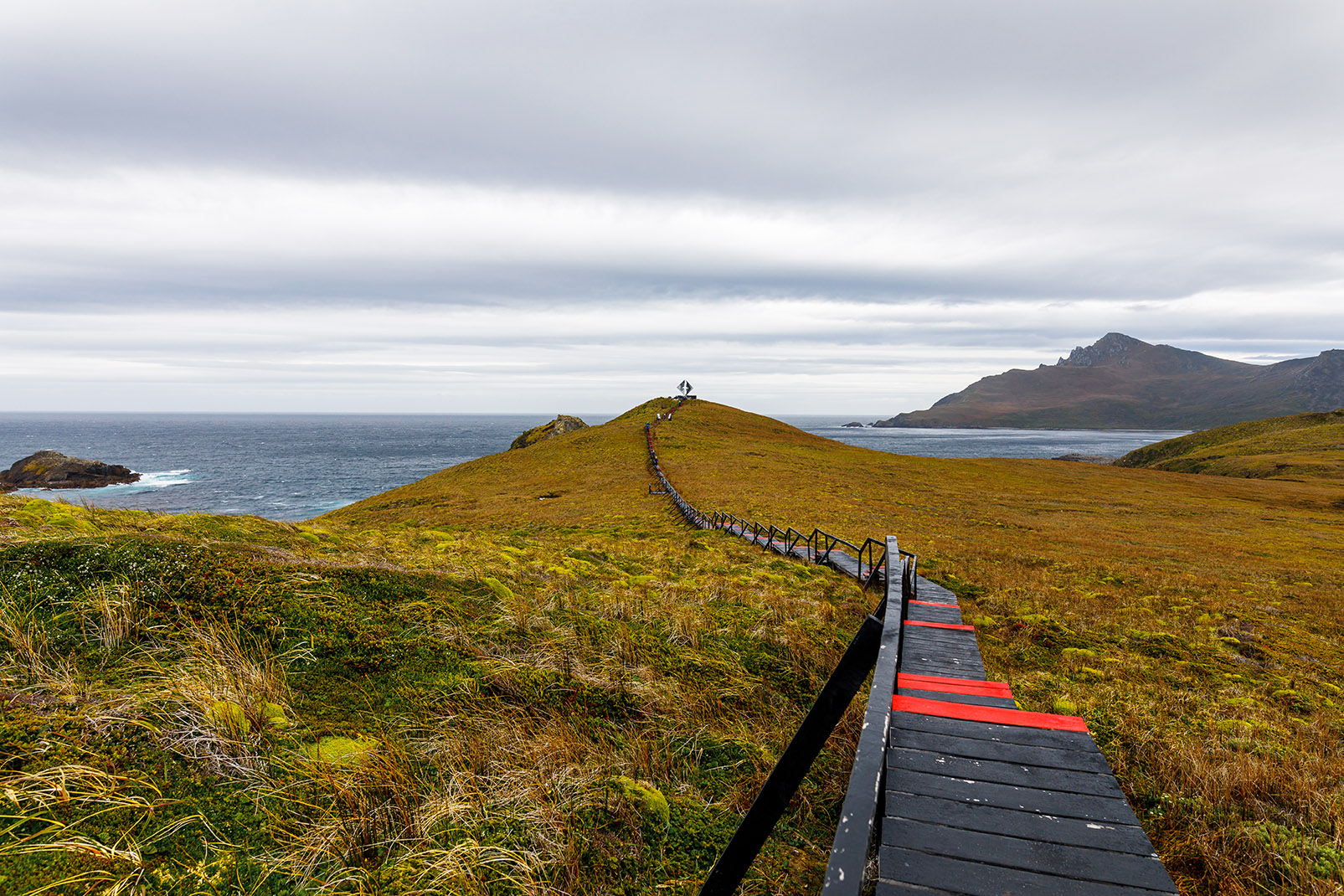 Cape Horn, on the small Hornos Island, is the southernmost headland of the Tierra del Fuego archipelago in southern Chile