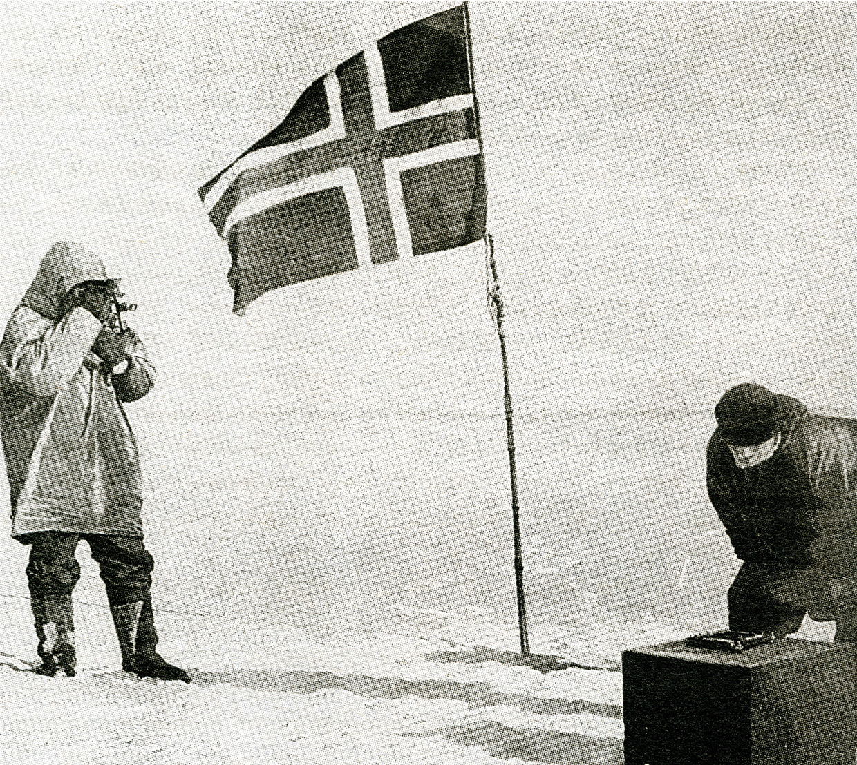 South Pole after fierce competition from Britain's Robert Falcon Scott, who arrived 35 days after Amundsen