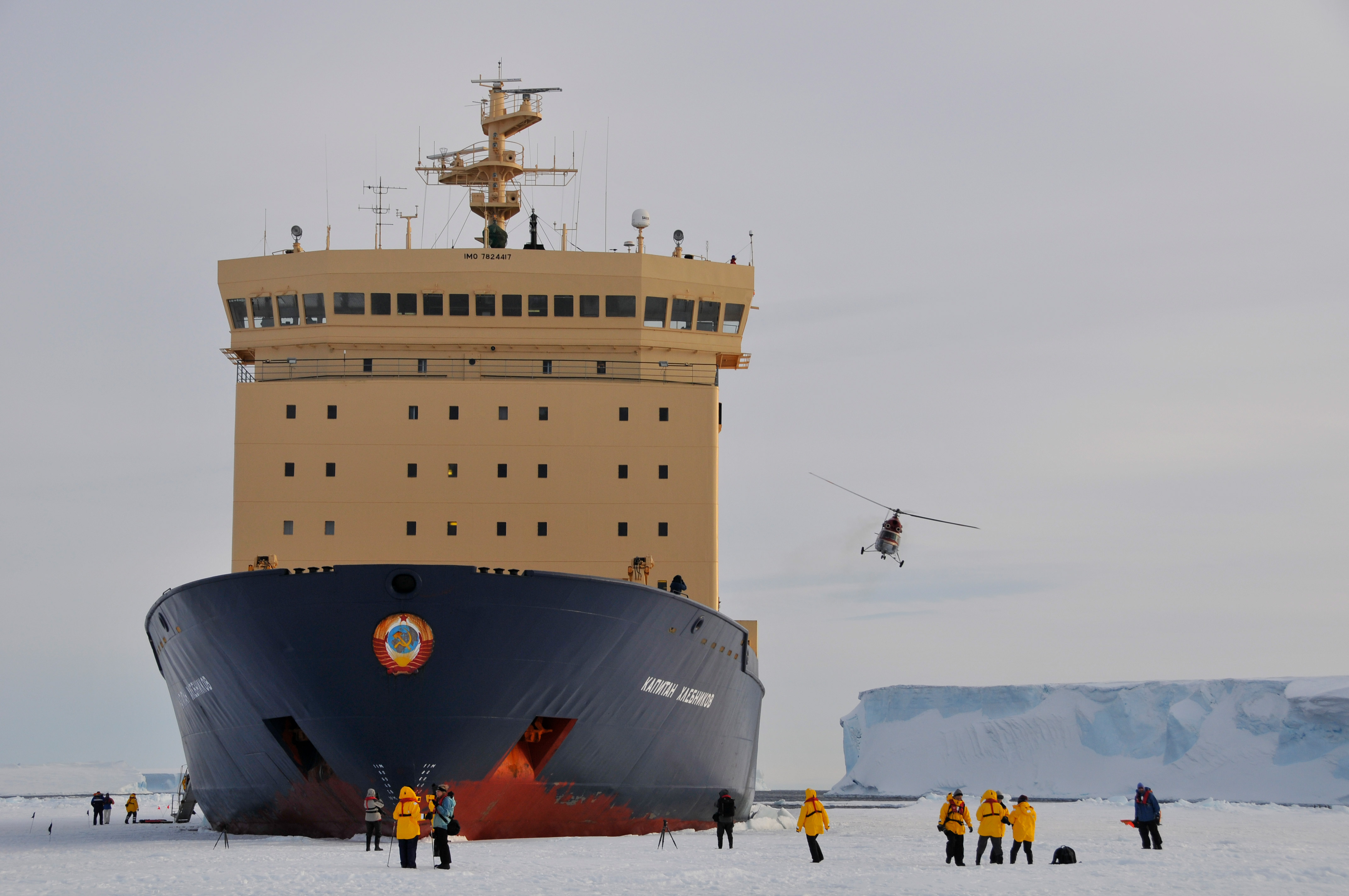 While it's possible to fly in a plane to Antarctica, visitors can also enjoy helicopter flight seeing once they get there.