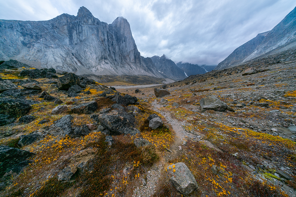 Mt. Thor, in Baffin Island, known as the world's tallest, steepest cliff