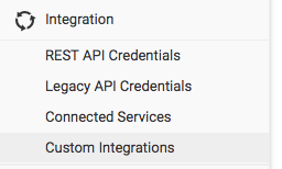 Custom Integrations Menu