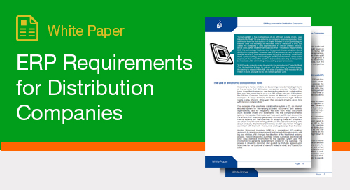 ERP Requirements for Distribution Companies