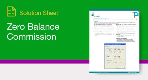 Zero Balance Commission