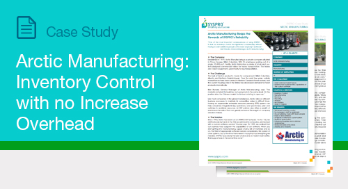 Arctic Manufacturing: Inventory Control With No Increase Overhead