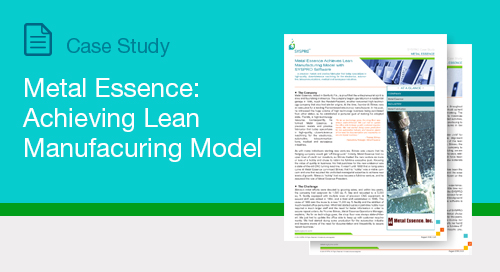 Metal Essence Achieves Lean Manufacturing Model with SYSPRO Software
