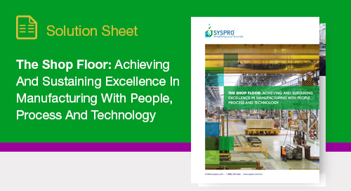 How to embrace an integrated approach to optimizing shop floor productivity
