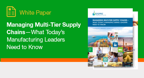 An overview of managing multi-tier supply chains