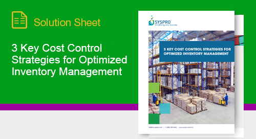 How a formal inventory management strategy can reduce costs and improve cash flow