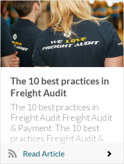 The 10 best practices in Freight Audit