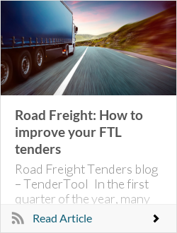 Road Freight: How to improve your FTL tenders