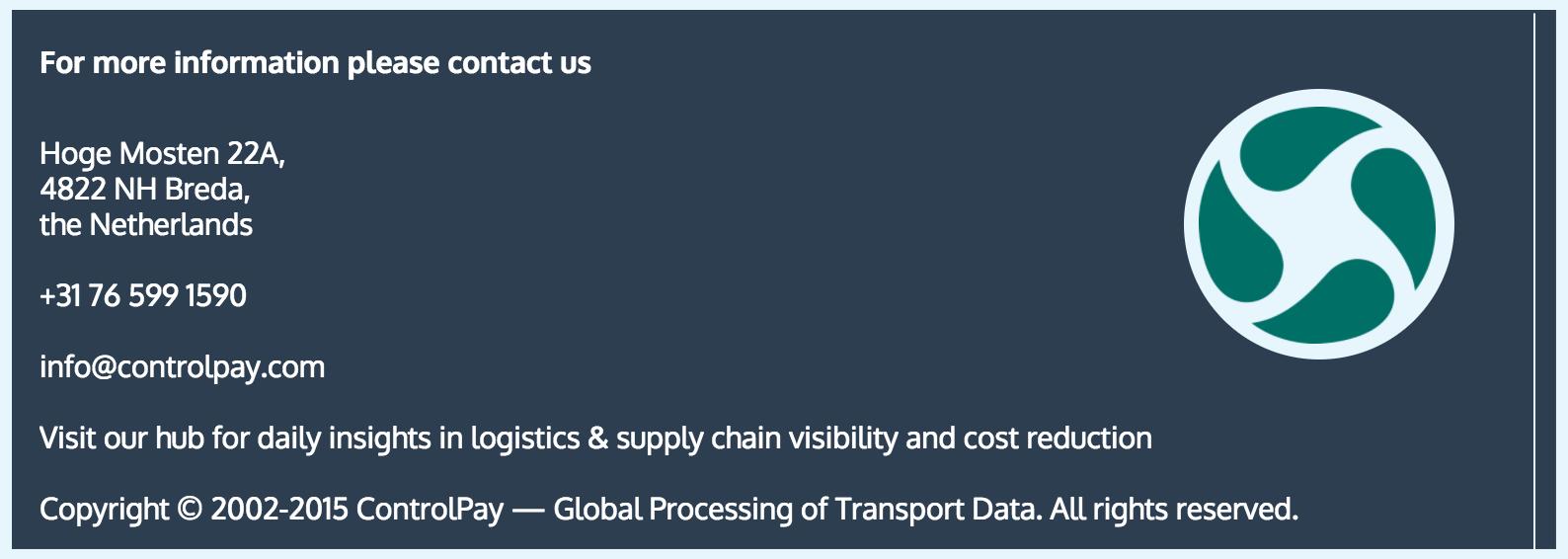 Controlpay. Freight Audit: International manufacturer case study