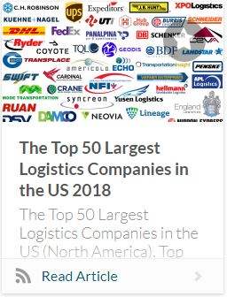 Top 50 Largest Logistic Companies 2018