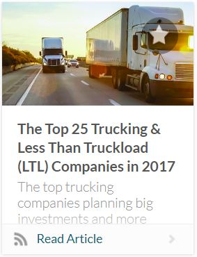 Top 50 Trucking and LTL companies 2017