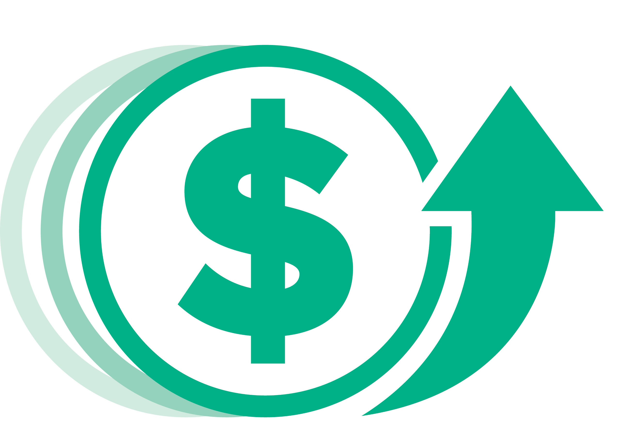 graphic of a dollar sign with green arrow to represent growing cash flow
