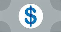icon of a dollar bill