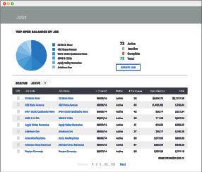 screenshot of customer job tracker in SmartView