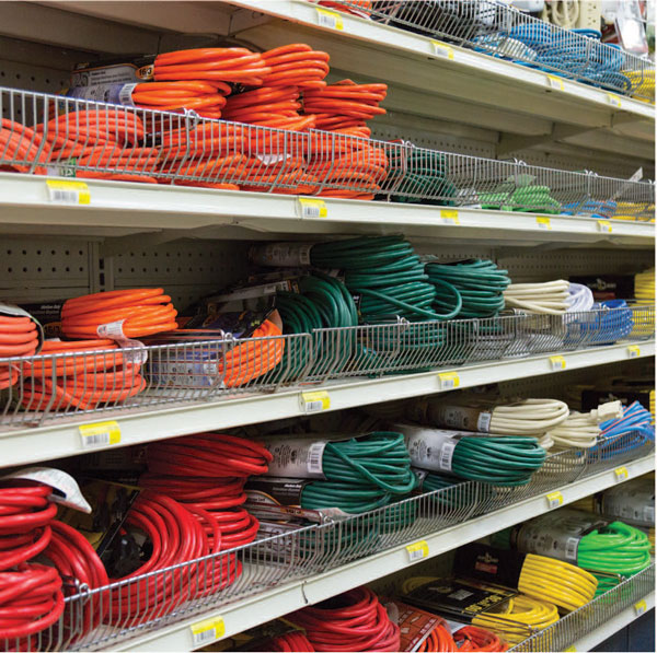 photo of electrical supplies in stock at CNRG Park Rose