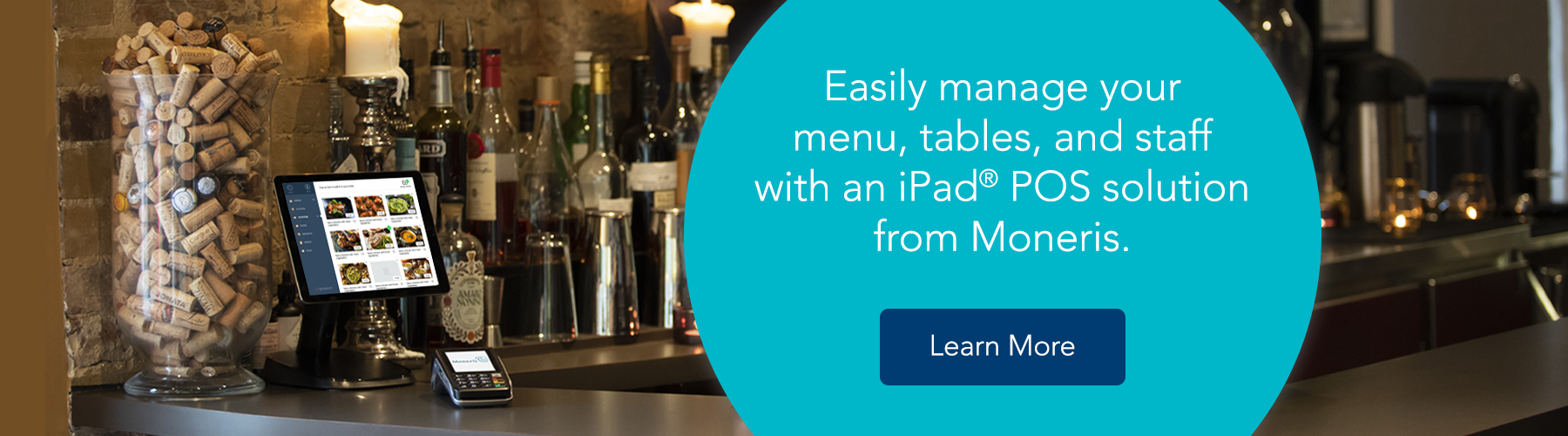 Easily manage your menu, tables, and staff with an iPad POS solution from Moneris. Learn more.