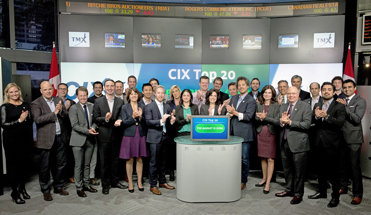 CIX's Top 20 Startups at the Toronto Stock Exchange for the announcement